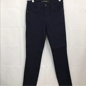Joe's Pants Mid Rise Skinny Dark Blue Stretch